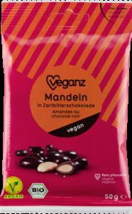 Mandeln in Zartbitterschkolade von Veganz