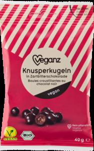 Knusperkugeln in Zartbitterschokolade von Veganz