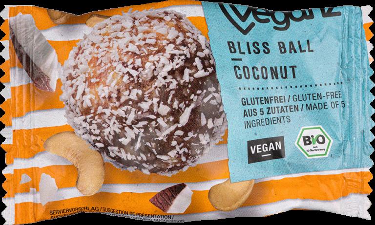 Produktabbildung vom Bio Veganz Bliss Ball Coconut